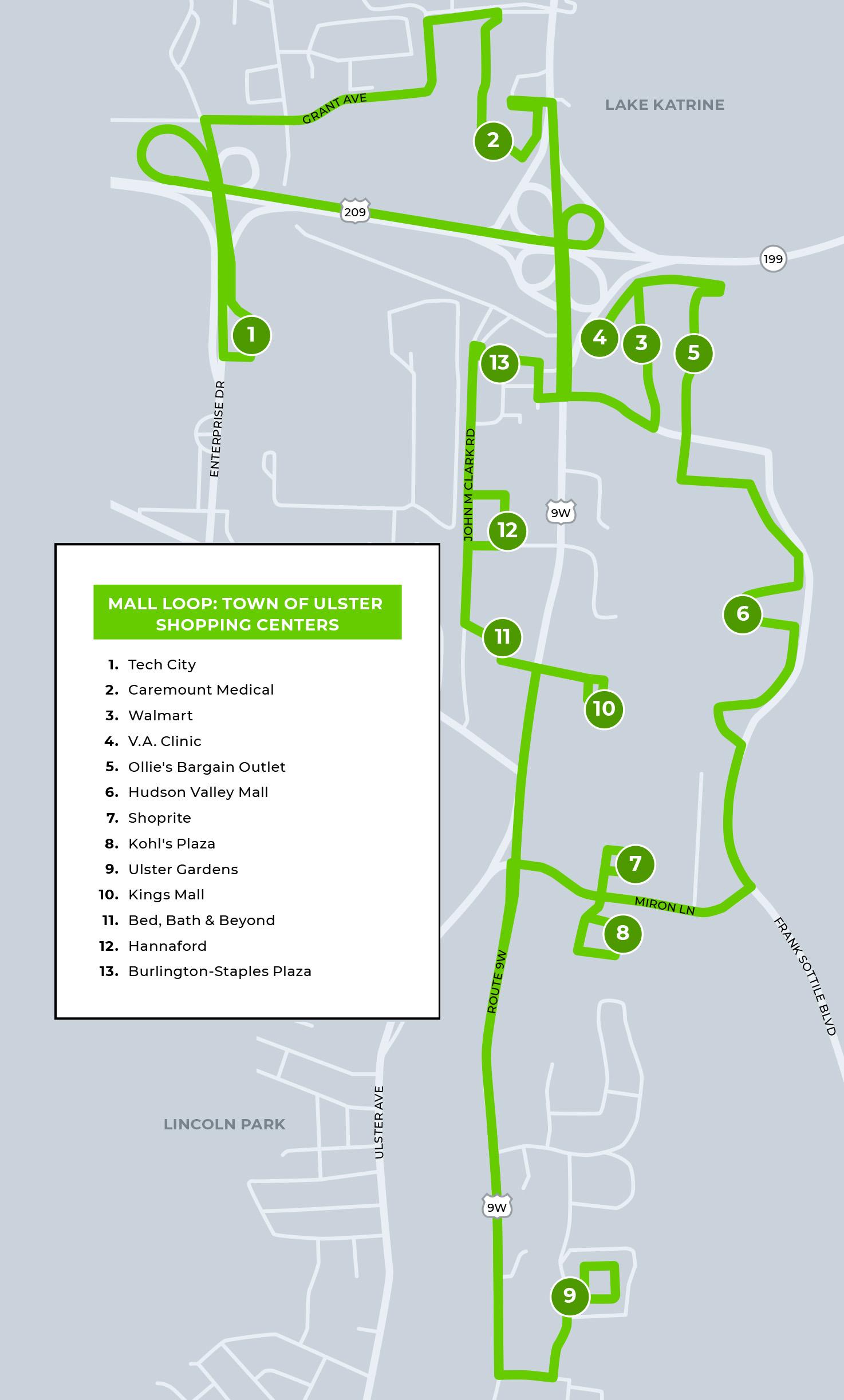 mall loop map