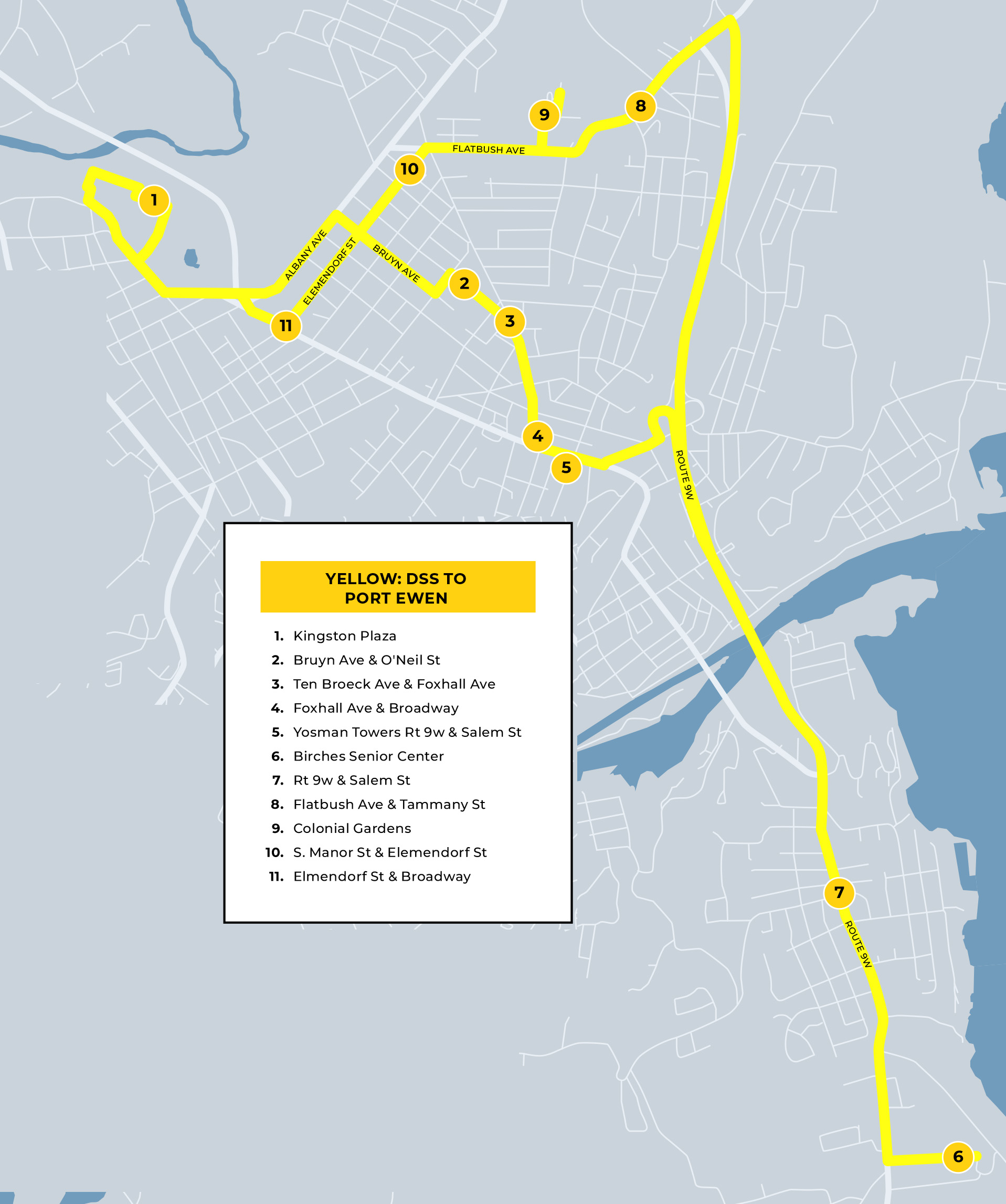 yellow route map